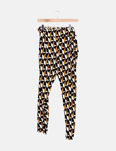 Pantalón tricolor estampado