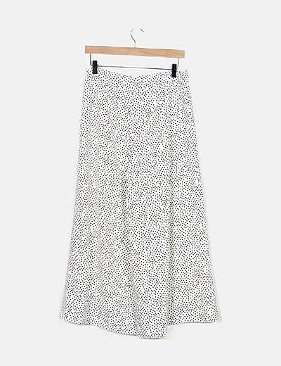 Pantalón blanco de lunares
