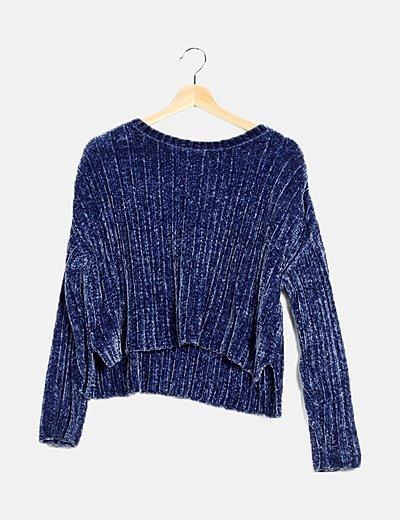 Jersey azul tacto suave
