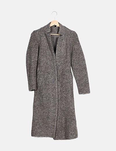 Abrigo gris jaspeado