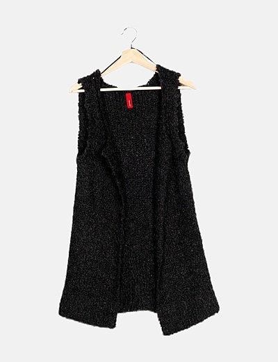 Chaleco tricot gris