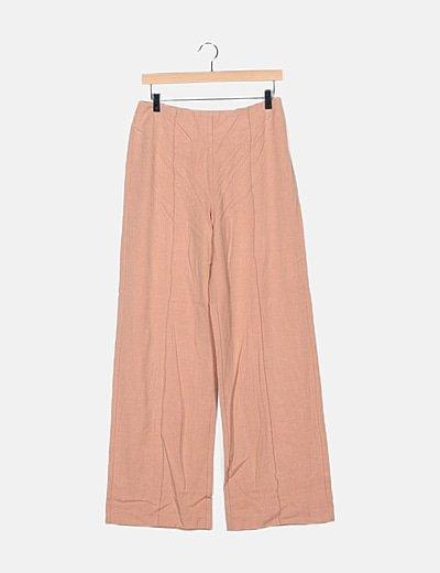 Pantalón palazzo rosa