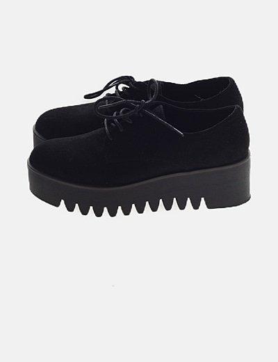 Zapato blucher negro