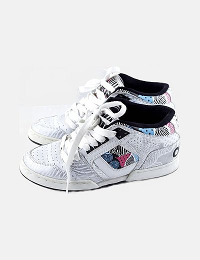 Sneaker multicolor estampado combinado