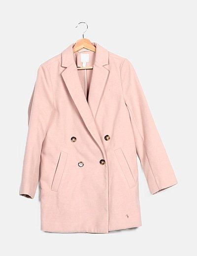 Abrigo rosa paño