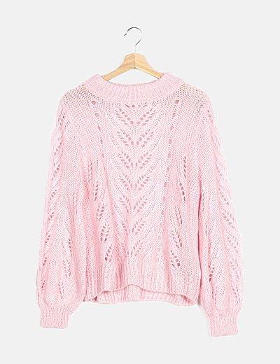 Jersey rosa calado