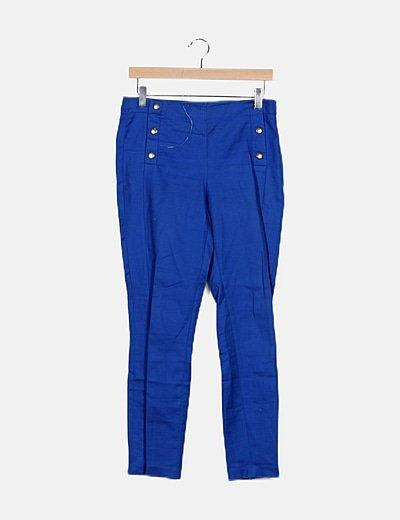 Pantalón azul recto