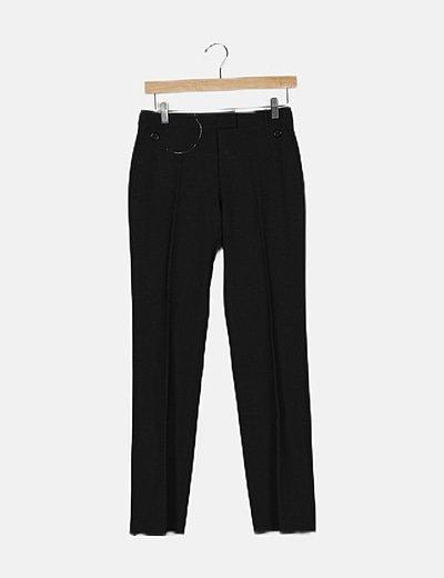 Conjunto pantalon y blazer negro entallado