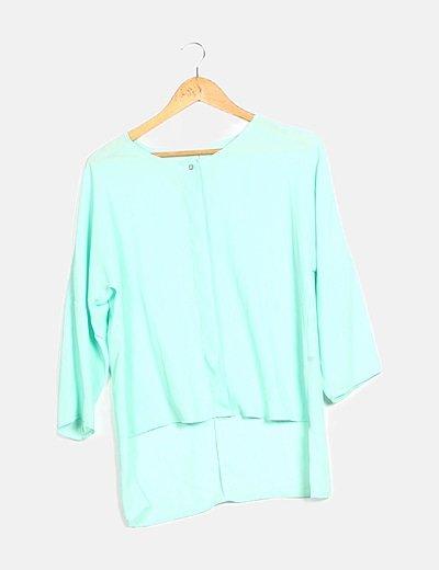 Camisa fluida color agua marina