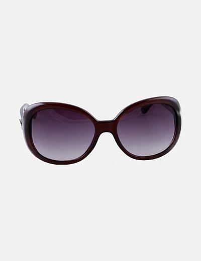 Gafas de sol vintage burdeos