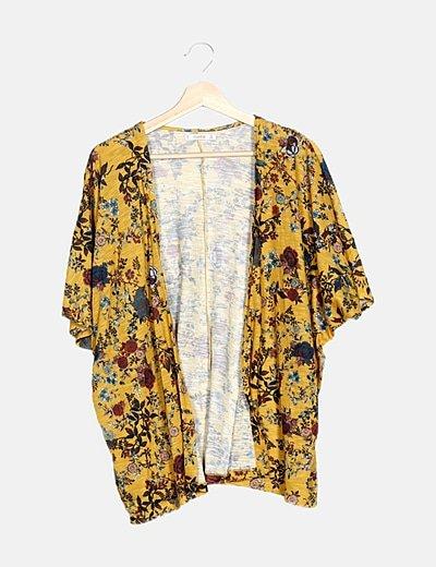 Kimono mostaza floral