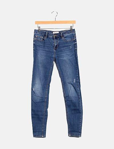 Pantalón denim azul