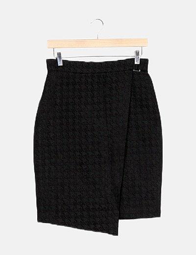 Falda negra pata de gallo