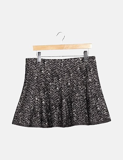 Falda bicolor