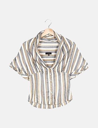 Camisa tricolor de rayas