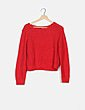 Jersey tricot rojo H&M