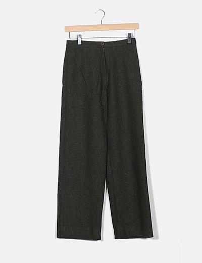Pantalón tricot verde