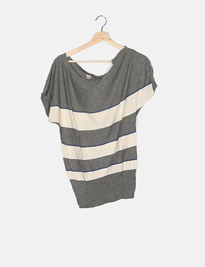 Jersey tricot bicolor de rayas