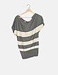 Jersey tricot bicolor de rayas Pull&Bear