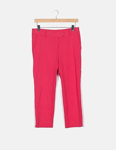 Pantalón elástico rosa