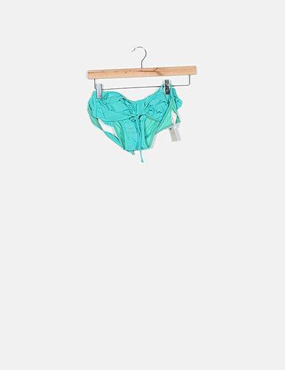 Bikini verde agua detalle volantes