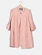 Abrigo rosa nude plisado botón joya NoName