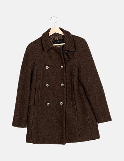 Chaqueta tricot marrón ceñida