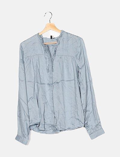 Camisa azul grisácea