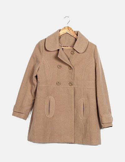 Abrigo beige texturizado