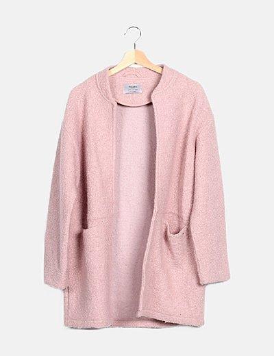 Abrigo largo rosa borrego