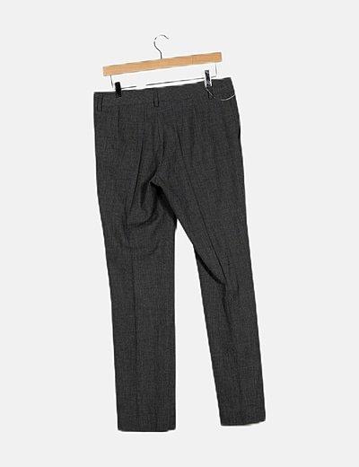 Conjunto pantalón y blazer gris fluido