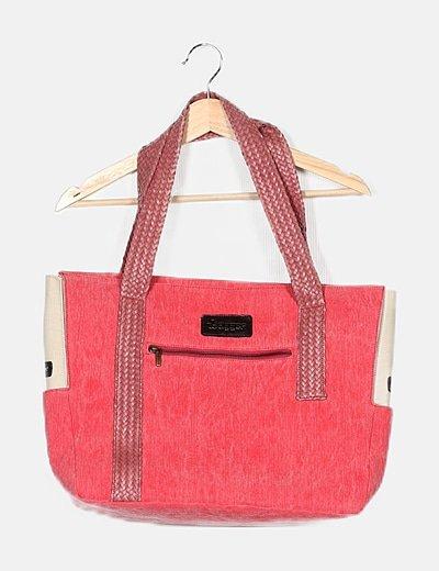Bolso shopper rosa