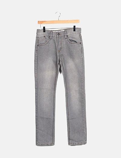 Jeans grises tiro alto