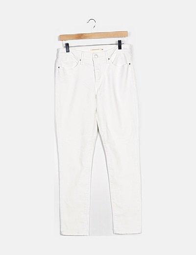 Jeans blanco ajustado