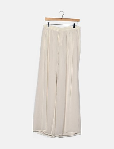 Pantalón blanco fluido