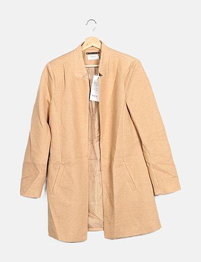 Abrigo tricot beige