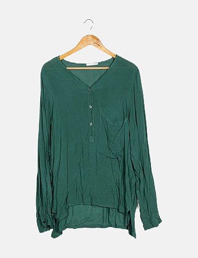 Blusa verde fluida