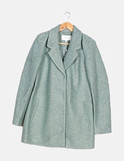 Abrigo color menta borrego
