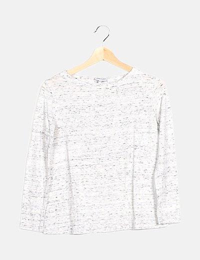 Camiseta gris jaspeada