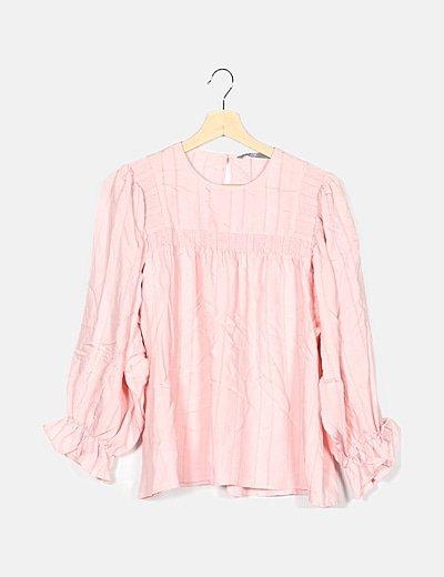 Blusa rosa combinada