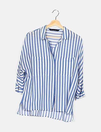 Camisa bicolor a rayas