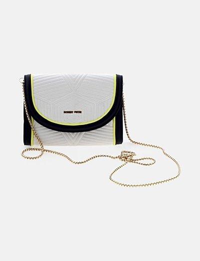 Bolso mini blanco texturizado