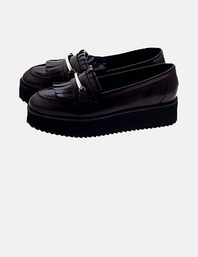 Zapato blucher burdeos
