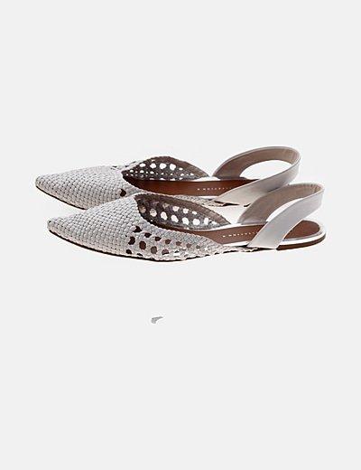 Zapatos blancos trenzados