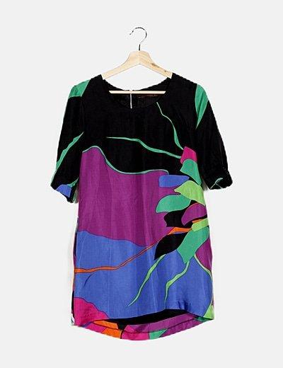 Vestido multicolor estampado