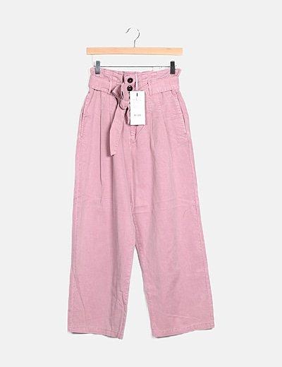 Culote rosa detalle cinturón