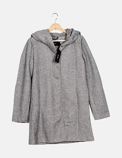 Chaquetón tricot gris
