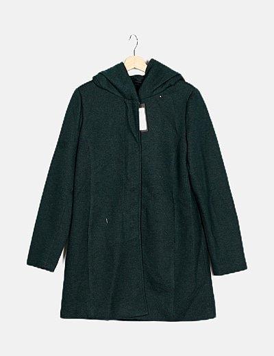 Chaquetón tricot verde fluido