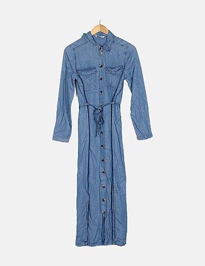 Vestido camisero denim