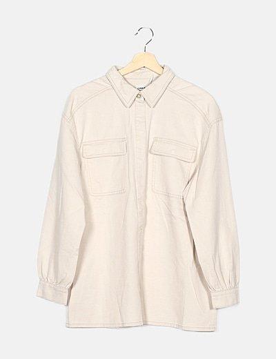 Camisa denim beige